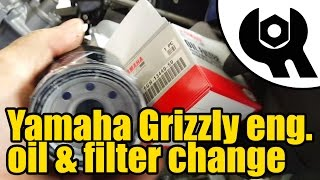 10. Yamaha Grizzly 450 - engine oil & filter change #1807