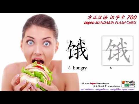 Chinese Radical 035 饣 食字旁 Food; eat