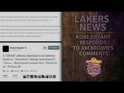 Video: Lakers' Kobe Bryant Responds To Jim Brown's Comments,