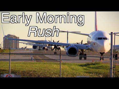 Early Morning Rush At Toronto Pearson (1080p60)