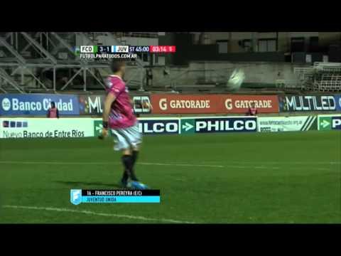 Gol de Pereyra (e/c). Ferro 3 – Juventud 1. Fecha 31. Primera B Nacional 2015. FPT.