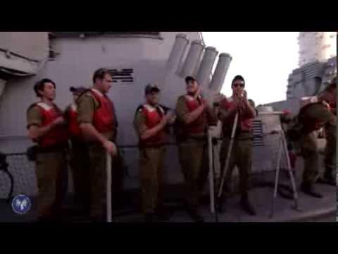 Les soldats de la Shayehet 13 de retour de leur mission contre le cargo iranien