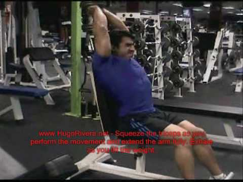 Overhead Triceps Extensions for Big Triceps - Natural Bodybuilding Exercises