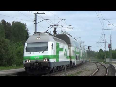 Finnish InterCity train 955 and Pendolino S958 in Inkoo