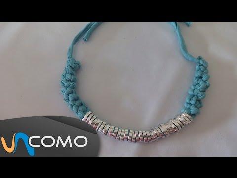 Crear un collar de nudo corredizo con trapillo