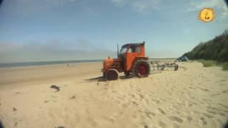 Time-lapse le tracteur orange de la plage de Jonville | Cotentin |