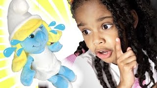 Learn Colors with Crying Baby Smurfs Pretend Play Family Review