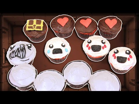 nerdy - Today my guest Dodger helped me make Binding of Isaac cupcakes! I really enjoy making nerdy themed goodies and decorating them. I'm not a pro, but I love bak...