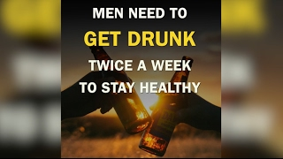 Good news y'all! MEN need to drink together 2 times a week to stay healthy 😂  😂  😂If you enjoyed this please subscribe to our channel. It will help us make more beautiful videos. Thanks!⬇🎉