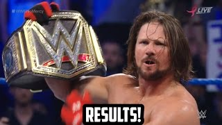 Aj Styles vs Dean Ambrose vs John Cena WWE No Mercy 2016 Results