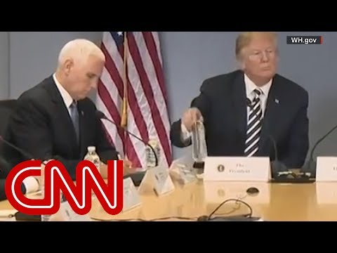 Internet mocks Mike Pence for imitating Trump