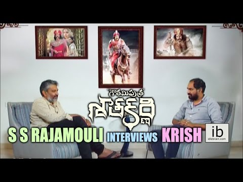 S S Rajamouli interviews Krish for Gautamiputra Satakarni