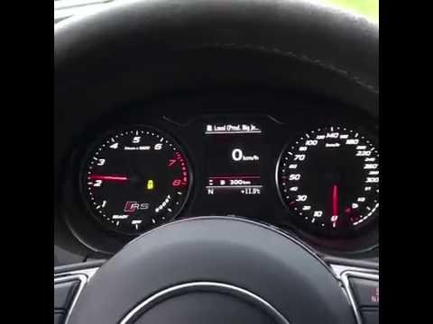 audi rs3 mtm - accelerazione 0 - 100 km/h