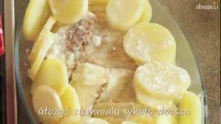 Zapiekanka z dorszem i ziemniakami - przepis