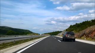 Dugopolje Croatia  City pictures : Croatian roads: A1 highway - Šibenik - Split - timelapse