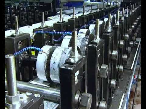 Rollforming line for profiles with cardan systems