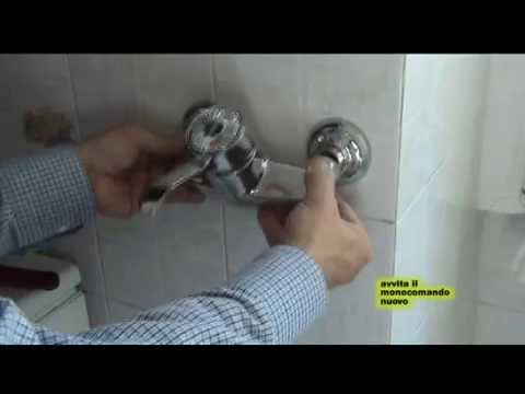 Come montare un monocomando a parete -