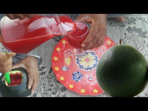 Watermelon juice | Watermelon hacks | Watermelon cutting | Watermelon juice prepared in  my village