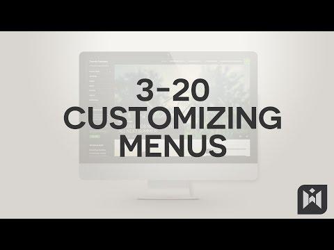Customizing Menus  in WordPress