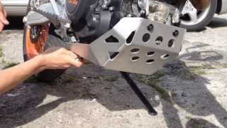 7. How to install Skid Plate on KTM SMC R 690 2013
