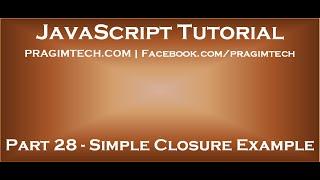 JavaScript closure example