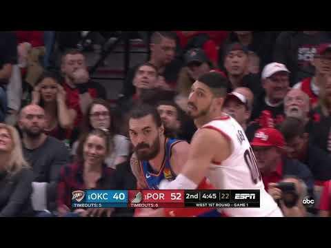 Steven Adams 04/14/2019 Oklahoma City Thunder vs Portland Trail Blazers Highlights