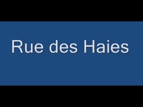 Rue des Haies Paris Arrondissement  20e