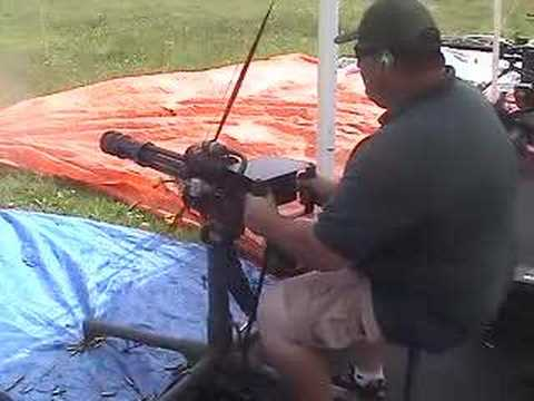 The minigun - I was out with a Dr. friend of mine who has a mingun and so I gave it a whirl.