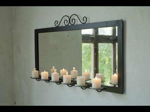 Wanddekoration Ideen für Bad, Flur, Wohnzimmer, Schlafzimmer Spiegel mit Kerzen | VARIA LIVING