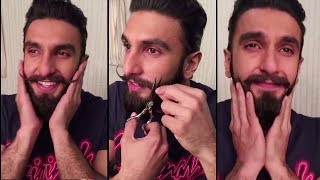 Video Ranveer Singh Gets Very Emotional While Cutting His Moustache And Beard MP3, 3GP, MP4, WEBM, AVI, FLV April 2018