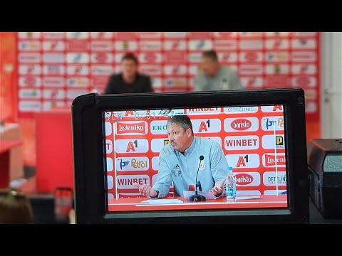 Пресконференцията на старши треньора Любослав Пенев преди гостуването в Пловдив на Локомотив