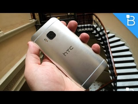 Youtube Video HTC One M9 gold on silver