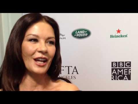 Catherine Zeta-Jones on Queen America & Michael Douglas | 2019 BAFTA LA Tea Party