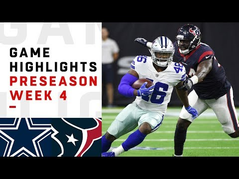 Cowboys vs. Texans Highlights | NFL 2018 Preseason Week 4