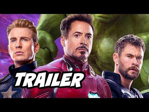Avengers Endgame Trailer 2 - Captain Marvel and Time Travel Scene Easter Eggs Breakdown