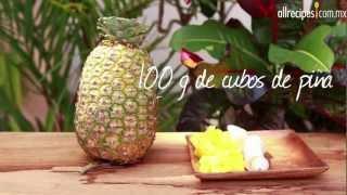 Cómo hacer smoothie de fruta tropical