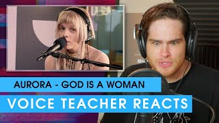 Video AURORA - God is a woman (Ariana Grande cover)   Voice Teacher Reacts download in MP3, 3GP, MP4, WEBM, AVI, FLV January 2017