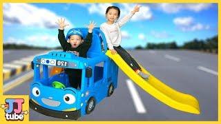꼬마버스 타요 미끄럼틀 장난감 놀이 LittleBus Tayo Slide Toy & Play [제이제이 튜브 -JJ  tube]