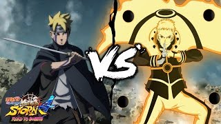 Cursed Byakugan Adult Boruto vs Bijuu Hokage Naruto - Naruto Ultimate NInja Storm 4 Road to Boruto