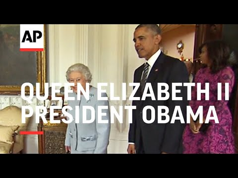 Obama meets Queen Elizabeth II at Windsor Castle