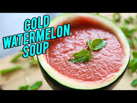 Cold Watermelon Soup Recipe – How To Make Cold Soup – BEST Summer Soup Recipe – Nupur