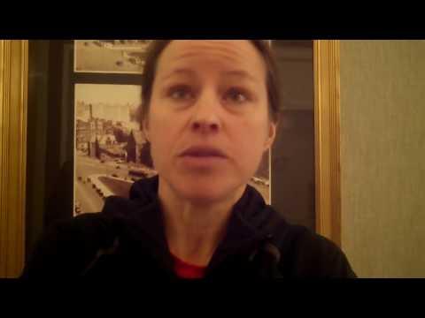 Canada's Krista Duchene after taking 3rd at 2018 Boston Marathon