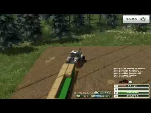 farming simulator 2013 bale stacking on two rivers map pt 22