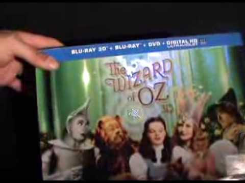 Wizard Of Oz Blu Ray 3D Unboxing