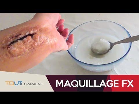 Recette de pâte pour maquillage fx (Halloween)