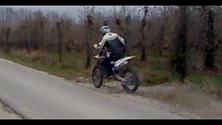 8. wheelie bike HUSQVARNA TC 450 2009 first time