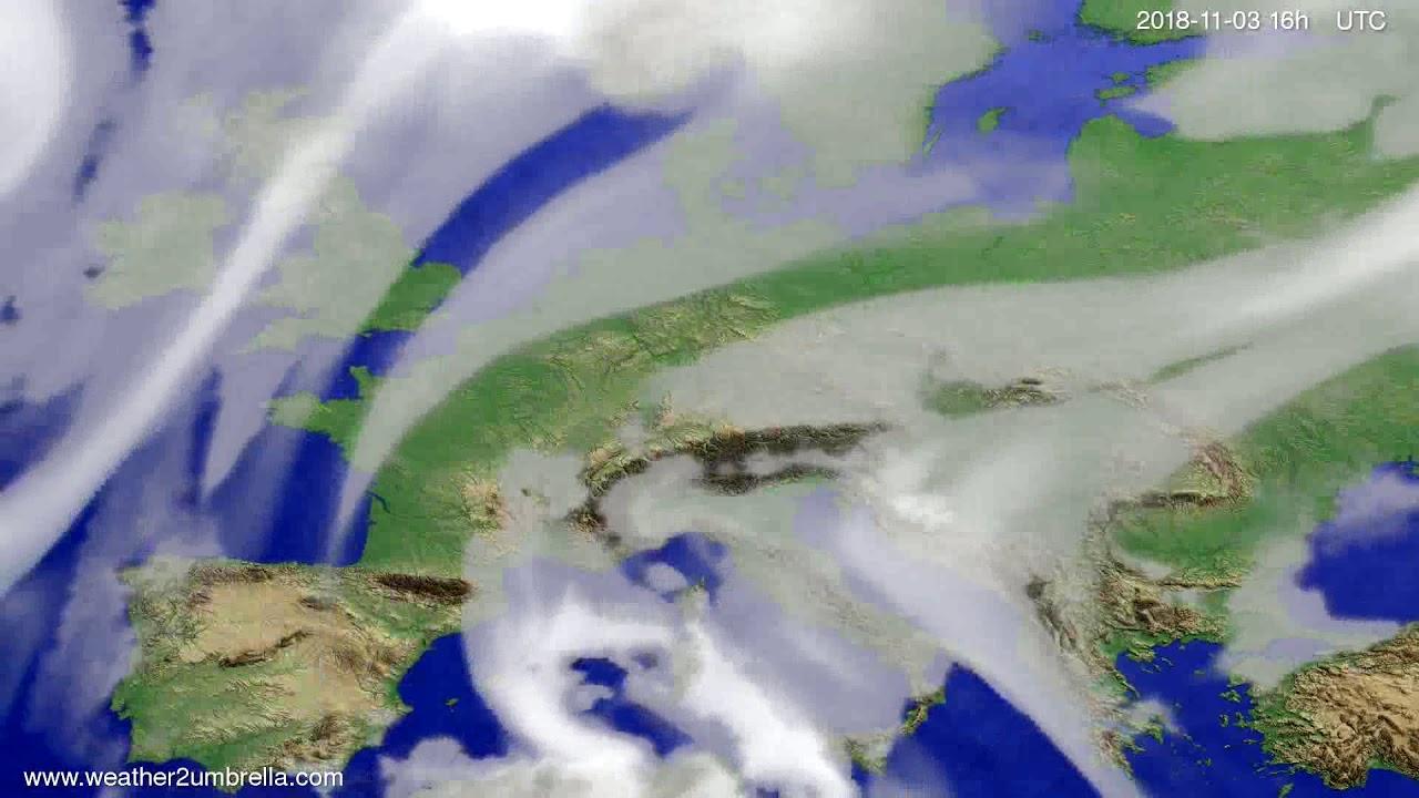 Cloud forecast Europe 2018-10-31