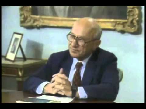 milton friedman - Professor Friedman leads a roundtable discussion with students. http://www.LibertyPen.com.