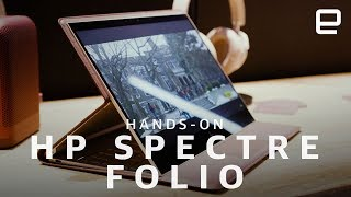 HP Spectre Folio Hands-On: HP made a laptop out of leather