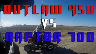 1. Raptor 700R Vs. Polaris Outlaw 450 MXR